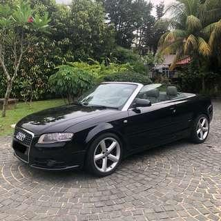 Audi A4 Cabriolet Convertible Sports Car - FLASH SALE PRICE DROP THIS WEEK WEEKDAYS $120 a day!