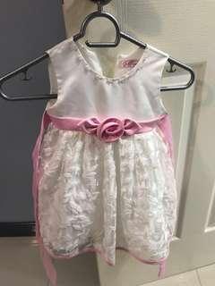 White & Pink Dress