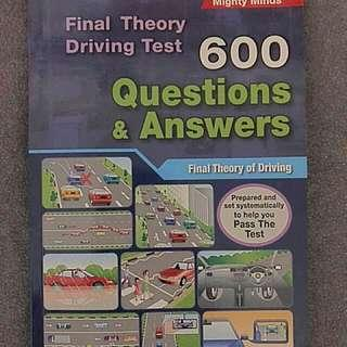 Final theory 600 questions driving book by Mighty Minds