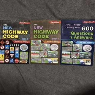 Driving Theory Books with Question Book For Sale!
