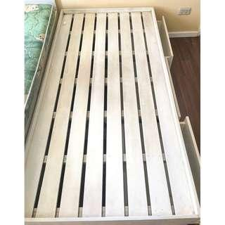 RUSH SALE! Repriced P3000 Single Bed Frame with 3 Storage