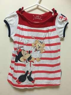 迪士尼Minnie&duffy衫18-24個月