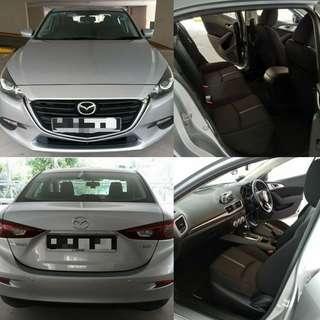 Grab/ryde/URGE Mazda 3 skyactive for rent