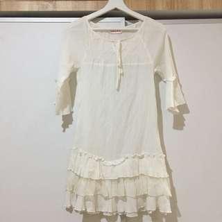 White Mini Dress #oktosale