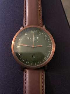 Ted baker watch, great condition, brown leather