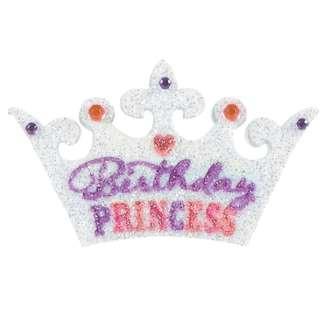 Body Jewelry (Stick on Tattoo Sticker) - Birthday Princess Tiara