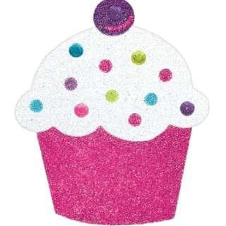 Body Jewelry (Stick on Tattoo Sticker) - Birthday Cupcake