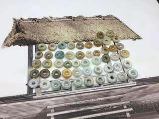 天然翡翠糯種三色小巧平安圈掛件(共61件)