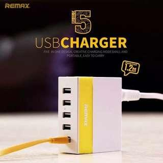 Remax Multi 5 USB Fast Charging