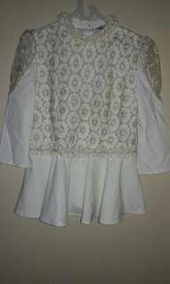 Baju pesta cewek putih
