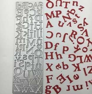BN alphabet upper and lower case die