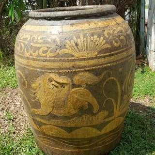 Antique Crock Or Tempayan