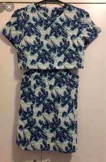 Topshop Leaf Print Dress