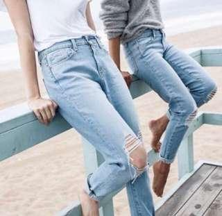Factorie Light blue Ripped Jeans