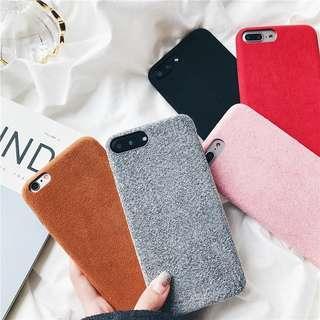 Gray Felt Case for iPhone 8