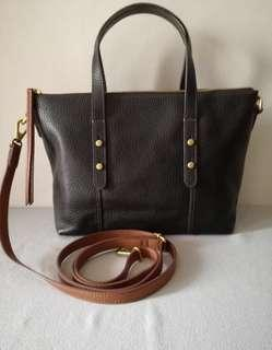 Fossil Jena Satchel Black Small - PRELOVED