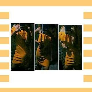 Mustard 3way dress