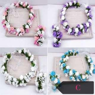 Flower crown and hand wreath set free normal mail