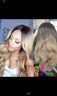(NO INSTOCKS!) Preorder wavy ombre blonde dip dyed hair wig * waiting time 15 days after payment is made *chat to buy to order
