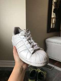 White Adidas Stan Smiths size 7