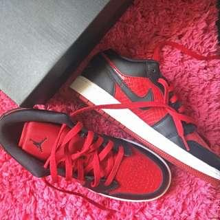 JORDAN 1 BRED LOW 6y (fits 7-7.5US wmns)