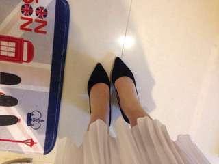🚚 8公分粗跟黑高跟鞋