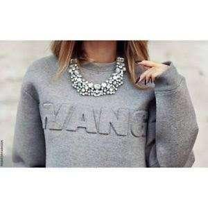ALEXANDER WANG GREY JUMPER BRAND NEW WITH TAGS SIZE S/8 AUS