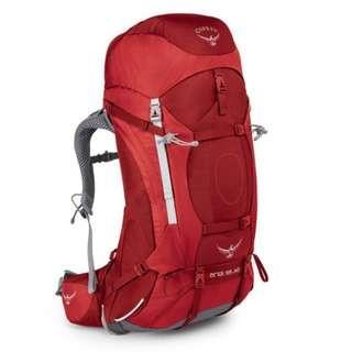 OSPREY ARIEL AG 55 L PICANTE RED WS hiking camping backpack 童軍 遠足 行山 露營 背囊 背包 登山包