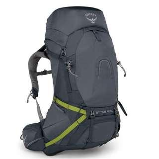 OSPREY ATMOS AG 50 L ABYSS GREY MD hiking camping backpack 童軍 遠足 行山 露營 背囊 背包 登山包