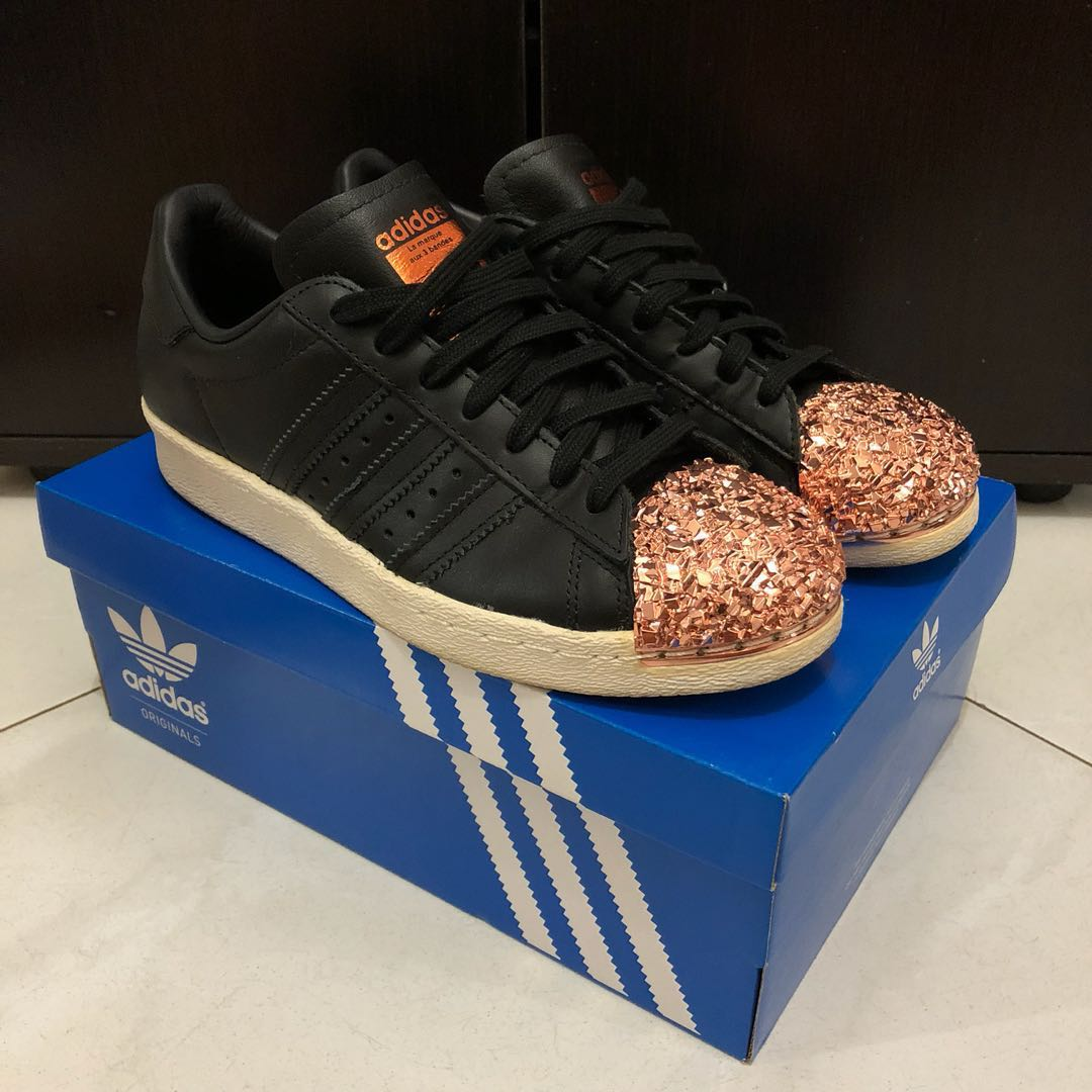 Adidas Superstar 80s Metal Toe Black/Rose