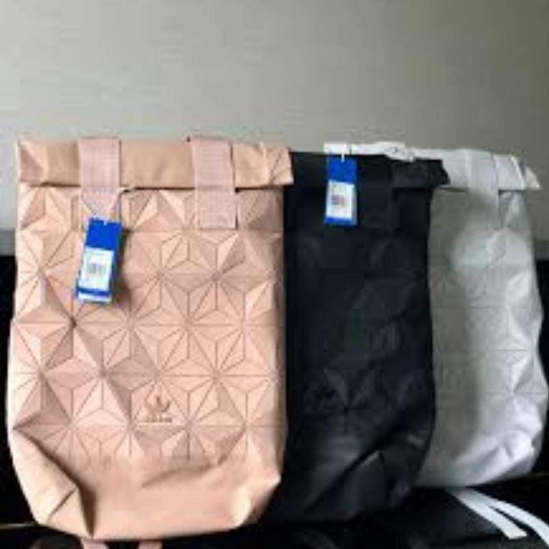 91d97f95bd Adidas x Issey Miyake 3D Roll Top Backpack  Instock!!  Full Black ...