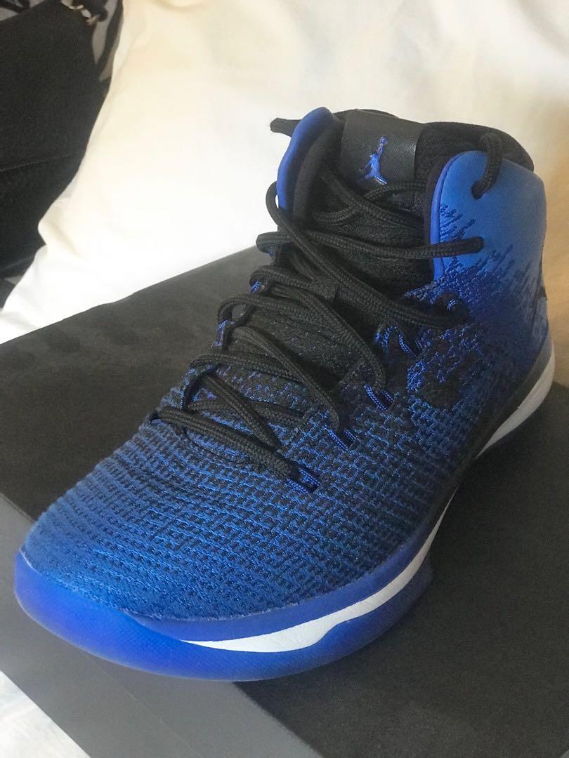 Air Jordan XXXI BG - Black/Game Royal-White - Size 7Y (youth)