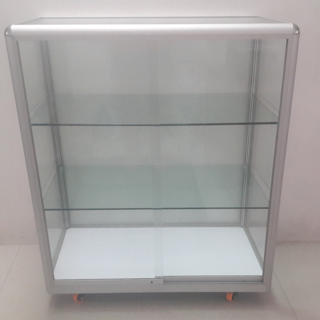103c5dcee16 Aluminium   Glass Display Cabinet for sale