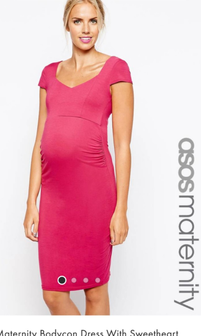 92e4974be09f ASOS Maternity Bodycon Dress with Sweetheart Neck, Women's Fashion ...