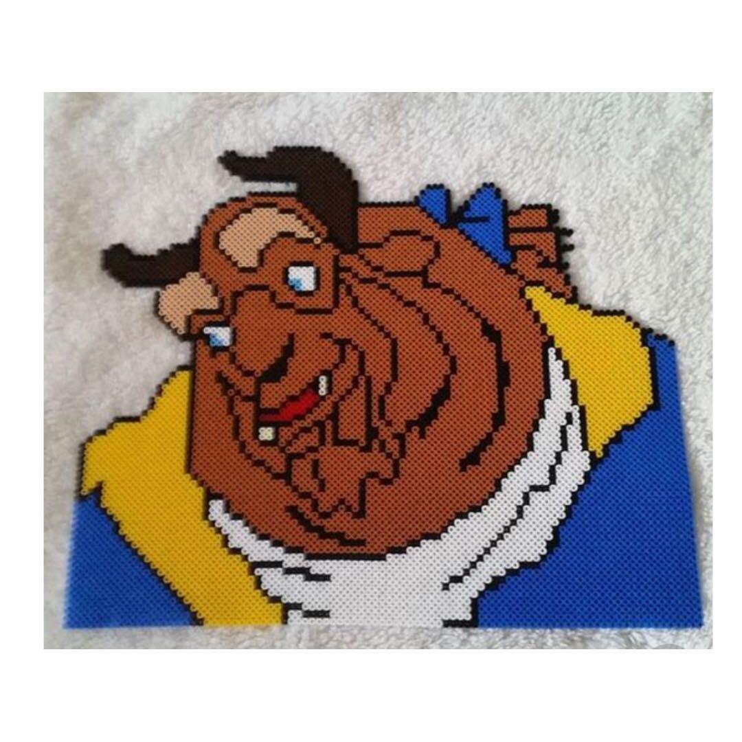 Beauty And The Beast Perler Pixel Art Design Craft