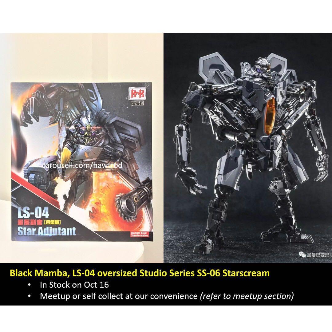 New Transformers Black Mamba LS-04 Decepticons Starscream Star Adjutant Figure