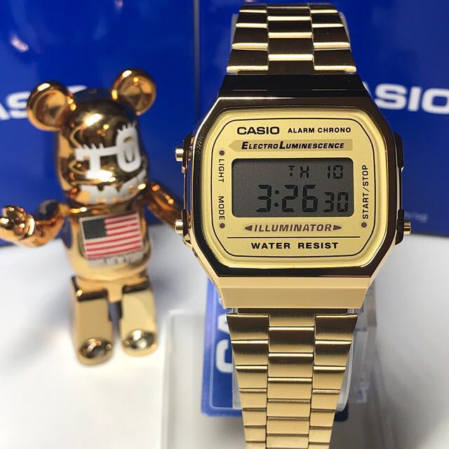 81a8d58522bf 🏆🏆🏆Brand new and 💯% authentic Casio Basic PVD Gold Digital Watch ...