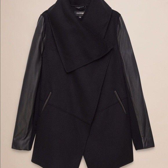 BRAND NEW WITH TAGS Mackage coat with leather sleeves