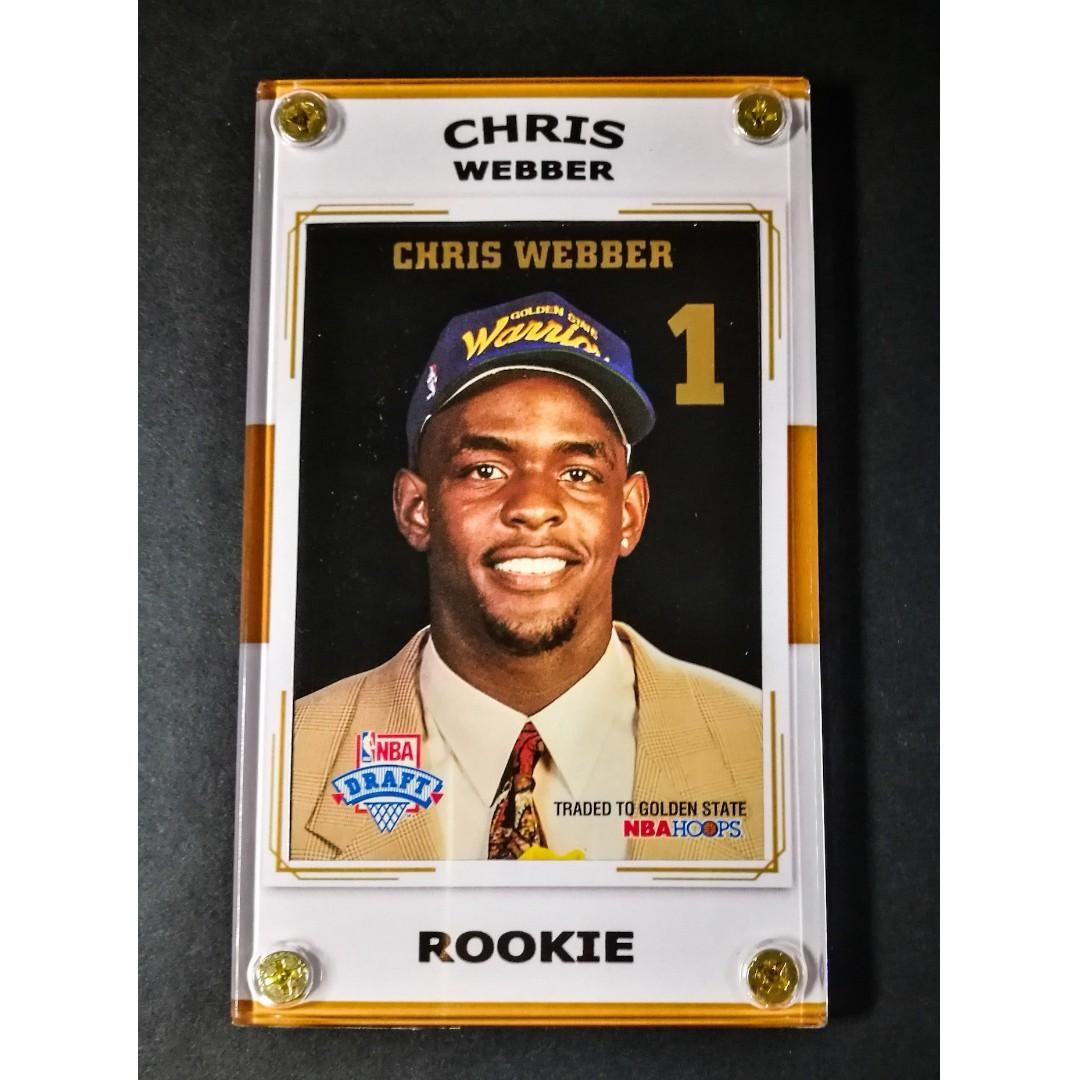 Chris Webber 1994 Basketball Card Nba Rookie Of The Year