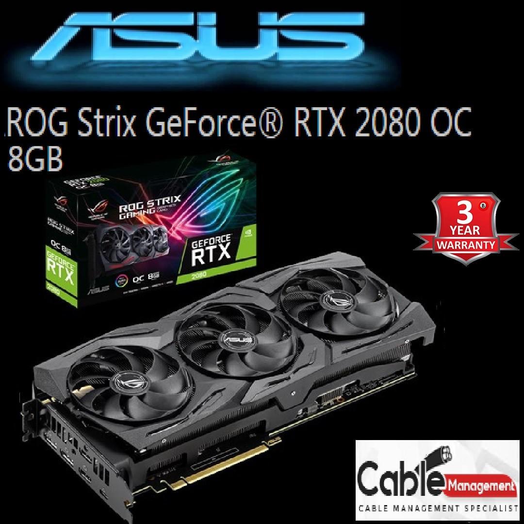 Asus RTX 2080 OC ROG Strix edition 8GB GDDR6,