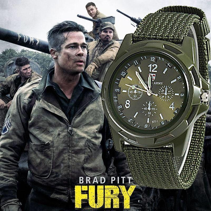 Genius Army Mens Brad Pitt Fury Military Wristwatch