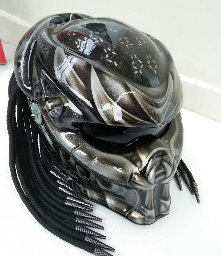 Helmet Predator Design Motorbikes Motorbike Apparel On Carousell