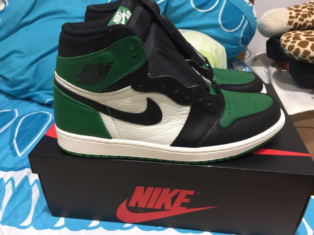 05d51e039994ed Jordan 1 PINE GREEN US10.5