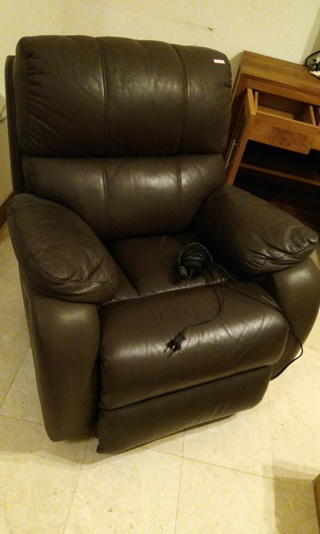 Fabulous Leather Electric Control Reclining Sofa Furniture Sofas On Frankydiablos Diy Chair Ideas Frankydiabloscom