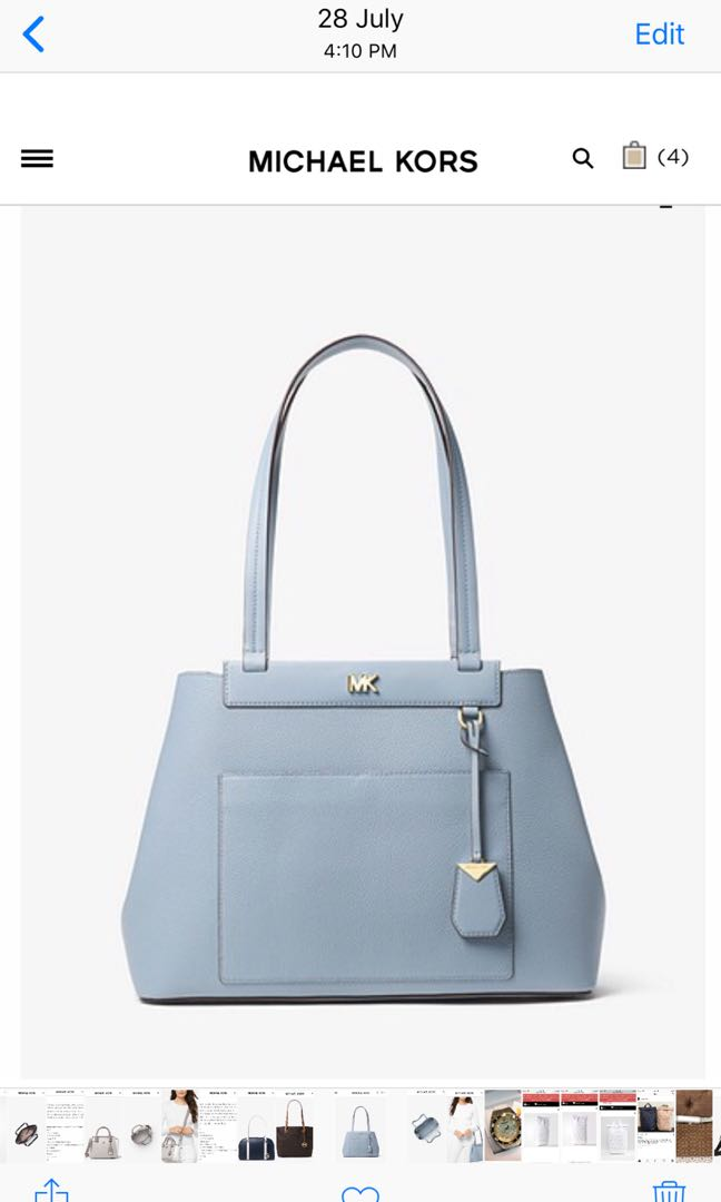 d4ad33fc0667 Meredith Medium Pebbled Leather Tote on Carousell