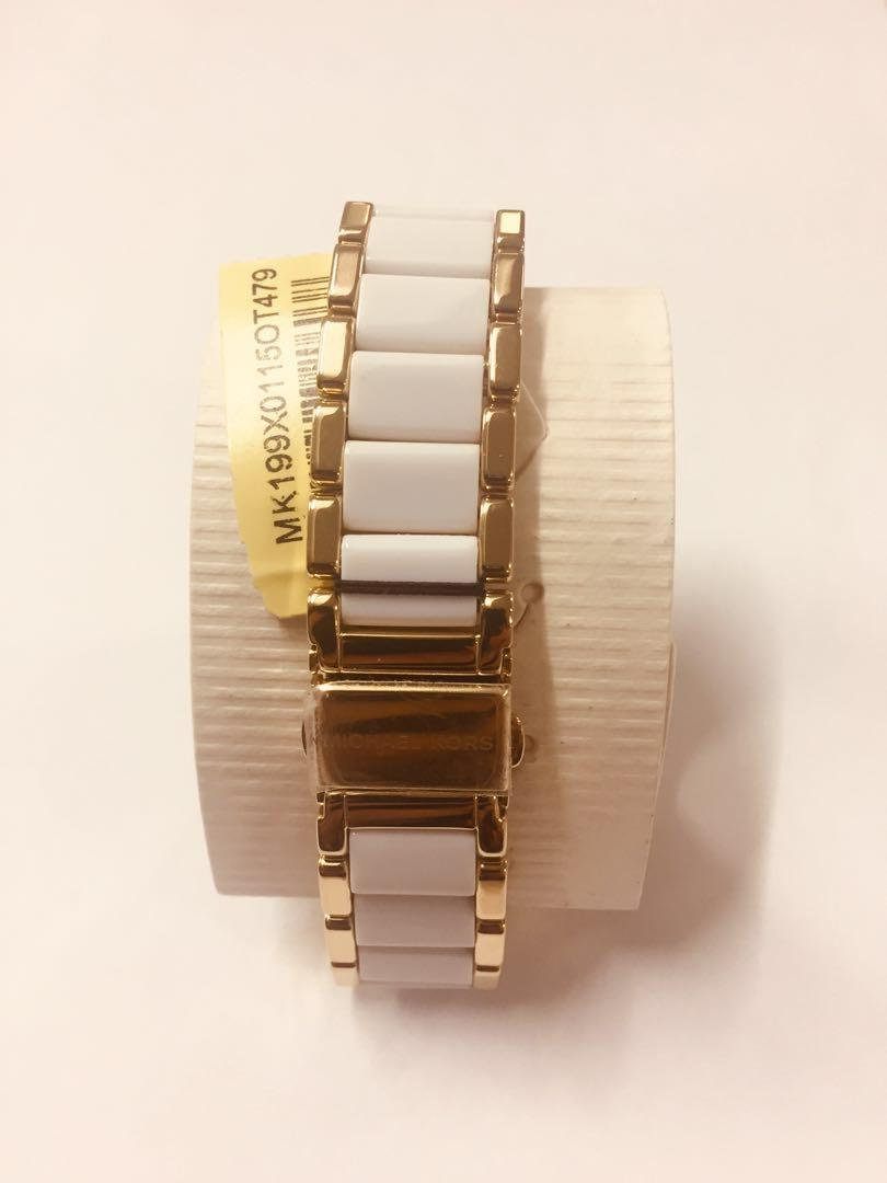 Michael Kors by Fossil Gold Tone White Parker Watch