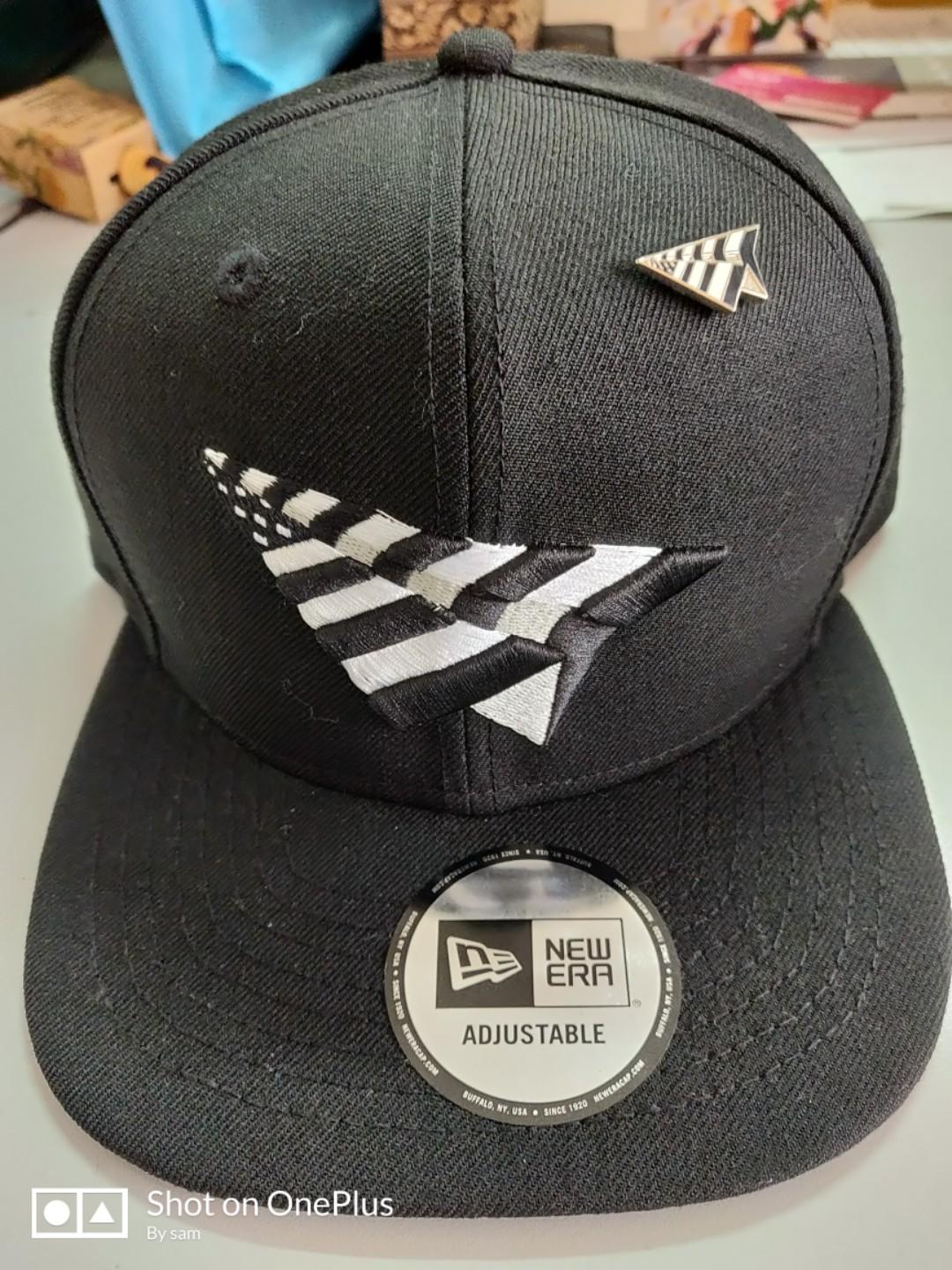 """Black 7 1//8/"""" with Pin RocNation Paper Planes Authentic New Era Fitted Cap"""
