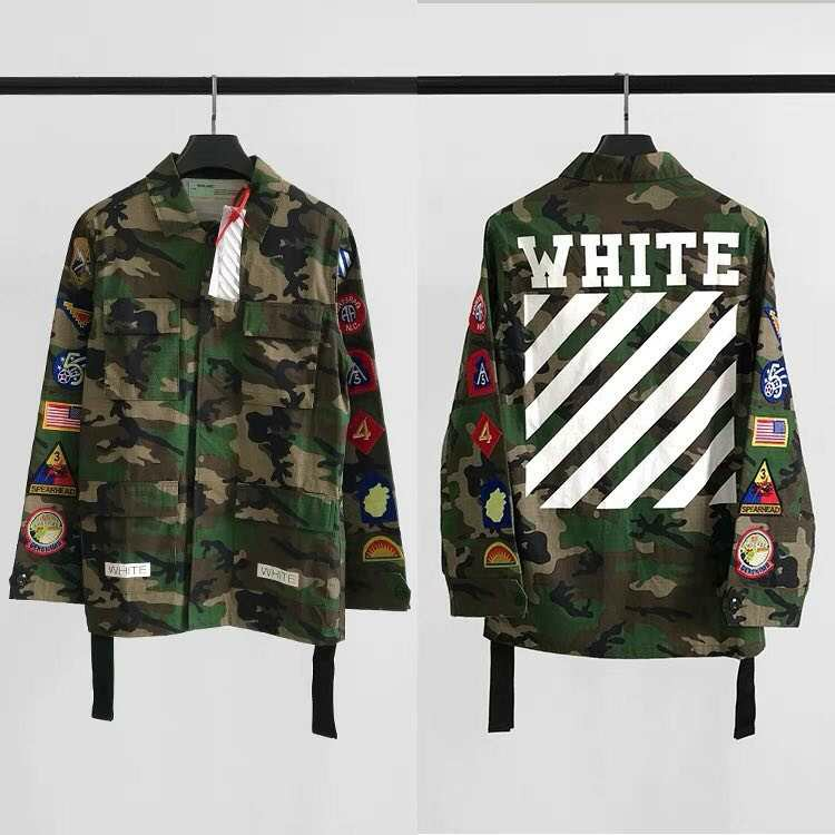 f3ff5734 Off White Camo Jacket, Men's Fashion, Clothes, Tops on Carousell