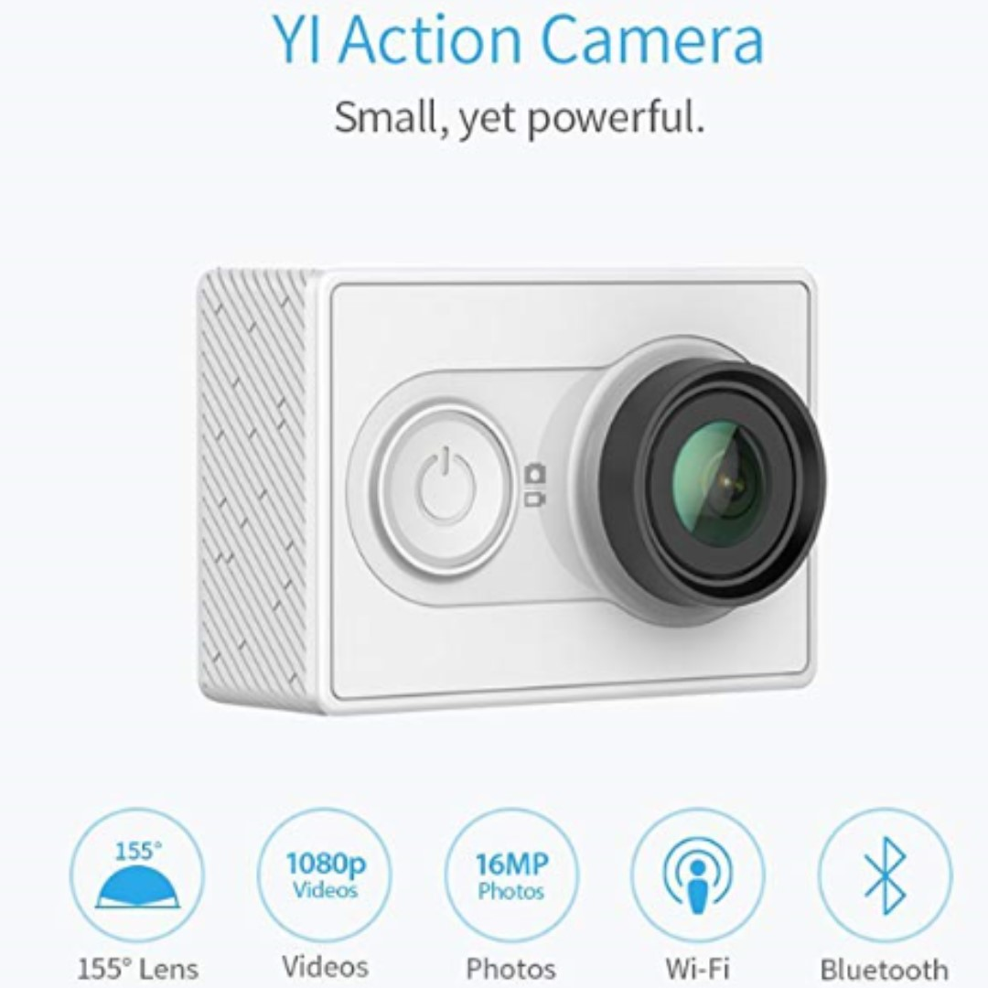 P9 YI Action Camera 16MP HD Sport Camera, 1080P/60fps 720P/30fps,155 Wide  Angle Sony Sensor, WiFi and Bluetooth