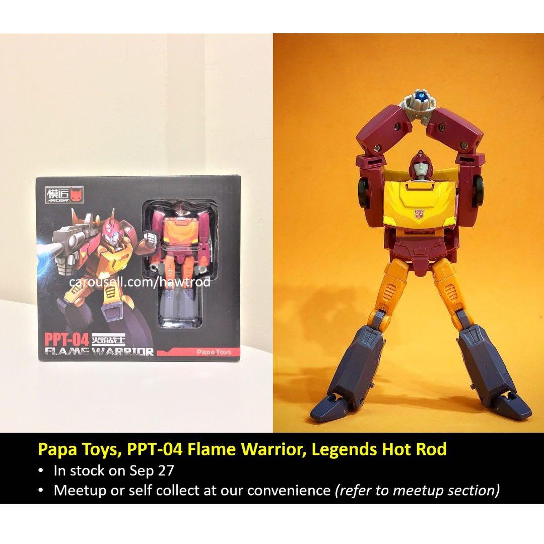 New Transformers PAPA TOYS PPT-04 Hot Rod mini Robot Action Figure in stock